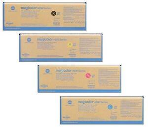4 Original Toner Konica MagiColor 4650EN 4690MF 4695MF / A0DK152 A0DK252 A0DK452