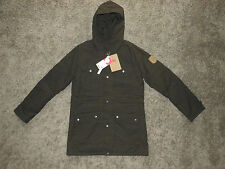 Womens Fjallraven Greenland Parka W Silent G-1000 Jacket Dark Olive - Size M