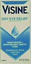 Visine Dry Eye Relief Lubricant Eye Drops 0.50 oz. Exp 06/22 ~ Free Shipping