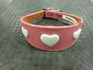 LEATHER WHIPPET DOG COLLAR SUEDE BACKING PADDED 12-14 INCH SAMPLE A43