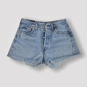 Levi's 501 Vintage Light Wash Denim Shorts Size Small S W29