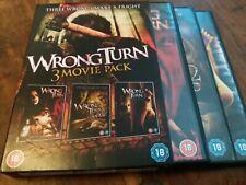 Wrong Turn Trilogy 1 2 3 Horror Movie UK DVD Boxset VGC