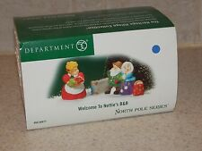 Dept. 56 Welcome To Netties B & B Retired 2005 New Old Stock Heritage Village