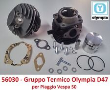 Gruppo Termico Cilindro + Pistone Olympia D47 = 75cc per Piaggio Ape 50 Tutte