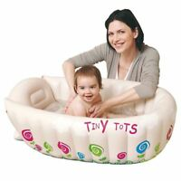 JILONG Tiny Tots Inflatable Baby Bath Tub Travel Infant Washing Tub Heat Sensor