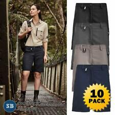10 x Womens Rugged Cooling Vented Shorts Ladies Breathable Work Pocket New ZS704