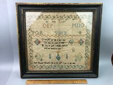 Beautiful Antique Sampler by Ann Gunell Framed