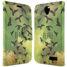 For ZTE Grand X 3 / Warp 7 Card Case - Be Free Bird Design Wallet Phone Cover