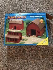 Vintage 1993 ERTL Farm Country Vintage Building Set New With Damaged Box