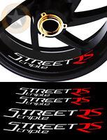 4 X STICKERS LISERET JANTE LOGO POUR STREET TRIPLE RS MOTO AUTOCOLLANT STICKERS
