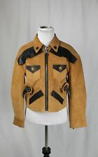 Coach Chic Burnt Sienna Leather Western Fringe Leather Jacket Sz Small