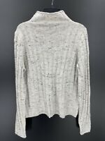 Madewell Womens Gray Speckled Coziest Yarn Mock Neck Sweater Wool Blend Sz Small