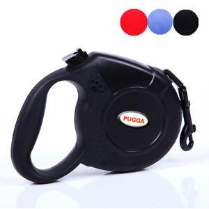 Dog Retractable Leash Non-Slip Grip 16ft, 26ft Nylon Up to 110lbs Large Medium