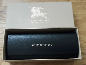 NEW BURBERRY GLASSES SUNGLASS BLACK SMALL HARD CASE POUCH  AND DOCUMENTS