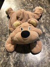 "Vintage Fisher Price 18"" Rumple Bear Tan Soft Plush Floppy Toy 1993 Rare Rumples"
