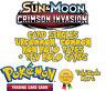 Sun & Moon Crimson Invasion Card Selection: Common, Uncommon, Rares & Rev Holos