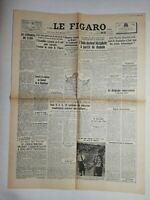 N819 La Une Du Journal Le Figaro 15 août 1947 l'inde devient bicéphale