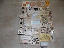 Stampin Up Lot of 112 Pieces Stamps Mixed Christmas Birthday EasterAlphabet L916