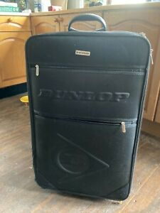 Dunlop Expanding Black Suitcase with Handle & Wheels
