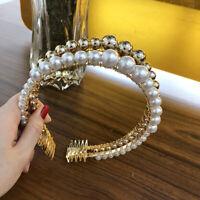 Women's Pearl Hairband Fashion Headband Bride Wedding Hair Bands Accessories