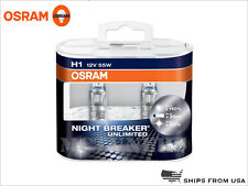 H1 Osram Night Breaker Unlimited NBU Halogen Headllight Bulbs made in Germany
