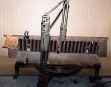 """Vintage Stanley 358 Adjustable Mitre Box Disston 6"""" x 30"""" Stanley miter box saw."""