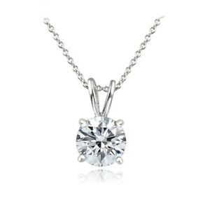 Platinum Plated Sterling Silver 100 Facets Cubic Zirconia Necklace (1cttw)