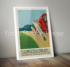 Poster Vintage Coche Coche Racing Motorsport-A4-Milán Grand Prix 1922