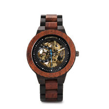 Luxury automatic Steel and Wood with Multifunction multi color wood Chronograph