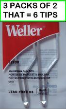 3 Packs Of 2 Weller 7250w Soldering Tips 2per Pack For D550d650gun