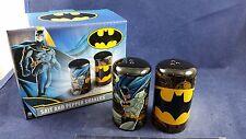 NEW NIB Batman Yellow Bat Symbol Bat Mobile Movie Exclusive Salt Pepper Shakers