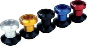 Driven Racing DXS-6 RD 6mm Swingarm D Axis Spools Black/Red 6mm 1303-0159