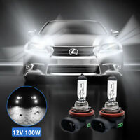 2X H8 H11 12V 100W Xenon Super White Halogen Fog Car Head Light Lamp Globes Bulb