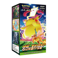 "Pokemon Card ""Astonishing Volt Tackle"" Booster Box 30 Packs / Korean Version"