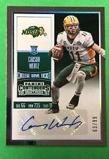 2016 Contenders Draft Picks Carson Wentz Auto College Bowl Ticket #/99 (Corner)