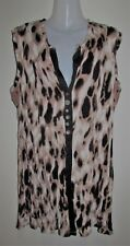 THREADZ Sleeveless Patterned Cardigan Size Large L