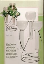 Wedding Triple Glass/Metal candle holder set