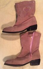 Barbie Suede Cowgirl Boots, Zip Up, Preowned, Size 2, Great Collectors Item