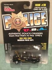 Michigan Police Dept Car - 1950 Ford Coupe - USA Racing Champions  1:58 Scale