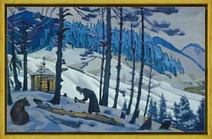 Framed Nicholas Roerich Sergius Giclee Canvas Print Paintings Poster