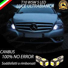 COPPIA LUCI DI POSIZIONE 5 LED MERCEDES CLASSE B W246 T10 W5W CANBUS NO AVARIA