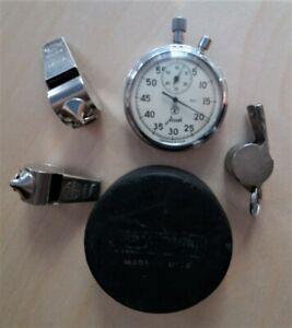 Vintage Washer Stopwatch Whistles Set of Soviet Sports Accessories Retro Sports