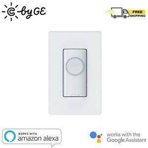 C by GE 3 Wire On/Off Push Button Style Smart Light Switch For Alexa Google Home
