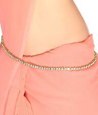 Indian Traditional Bridal Jewelry Kamar Bandh Gold Tone Chain Hip Waist Belt