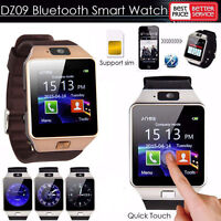 2018 New~DZ09 Blue*tooth Smart Watch GSM SIM For Android iPhone Samsung HTC LG