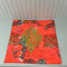 "Karma Living Damask  Beaded  Sham pillow case Neon Orange Yellow 18"" x 18"""