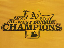 Oakland A's Large T Shirt West Division Champs EUC Baseball Athletics INV311