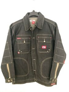 Ecko Unltd. Men's WRKSHP Denim Black Jacket