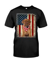 American Dogue de Bordeaux Dog American Flag Gift Ideas Dog Lover T-Shirt