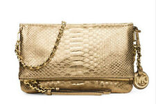 657287457321 Michael Kors Corinne Leather Medium Messenger Light Pale Gold Bag Purse  298
